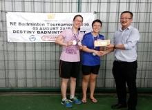 Women Double 1st Runner Up